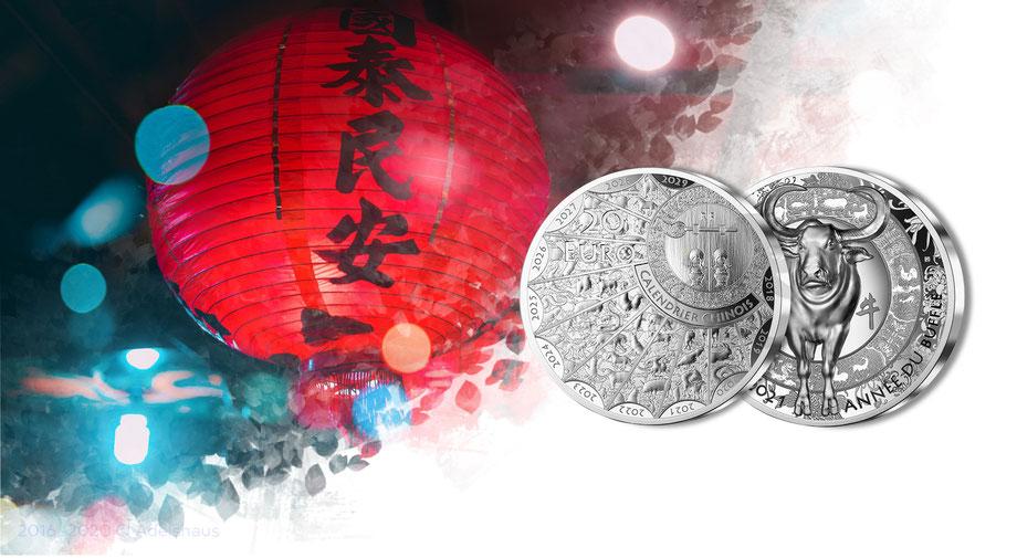 ochse lunar 2021 frankreich silber silbermünze adelshaus