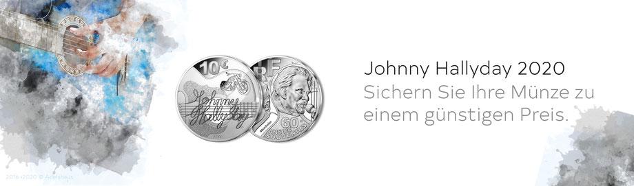 Sammlermünzen Frankreich Monnaie de Paris Silbermünzen aus Frankreich  Silber  Euro Frankreich Johnny Hallyday 2020 Gedenkmünzen
