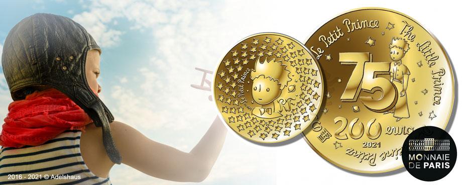 kleiner prinz 2021, gold, le petite prince ,little prince, euro, adelshaus, goldmünzen, silbermünzen, monnaie de paris