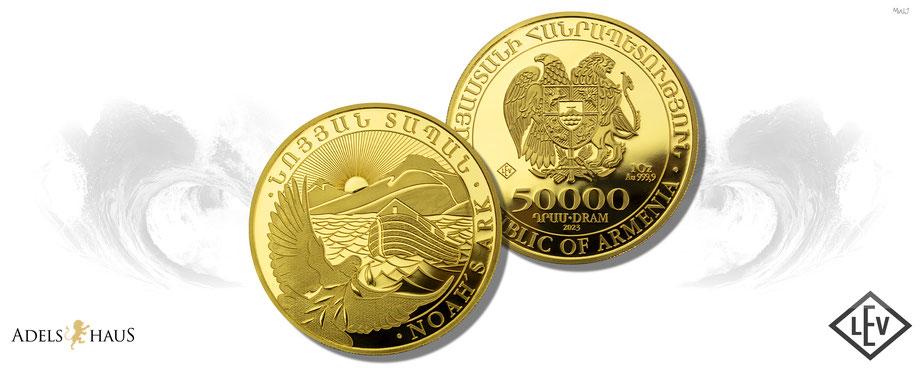 arche noah gold 2021 neuausgabe goldmünzen gold coin adelshaus