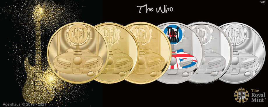the who gold silber münzen 2021 royal mint adelshaus