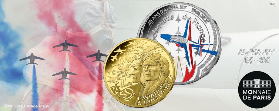 alpha jet 2021, gold, silber, sammlermünzen, monnaie de paris