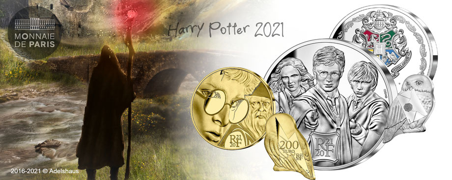 harry potter euro neu gold silber sammlermünzen 2021 adelshaus