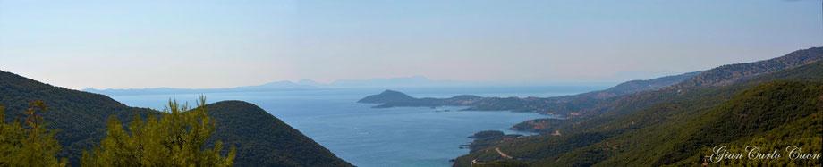 Panorama dalle colline di Sivota