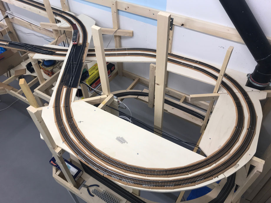 Modelleisenbahnanlage H0 Märklin K-Gleis, Thema Gotthard - Lötschberg - Simplon