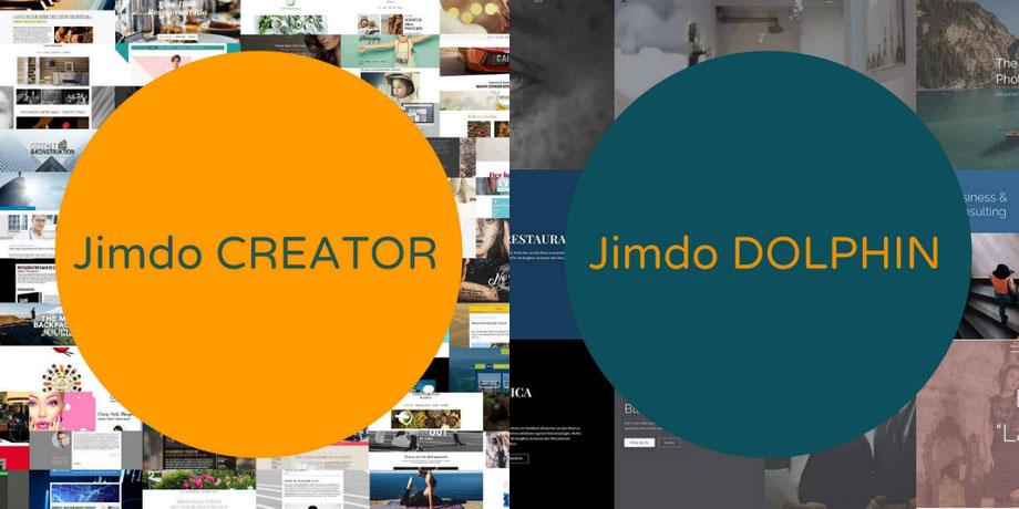 Collage Jimdo Creator - Jimdo Dolphin