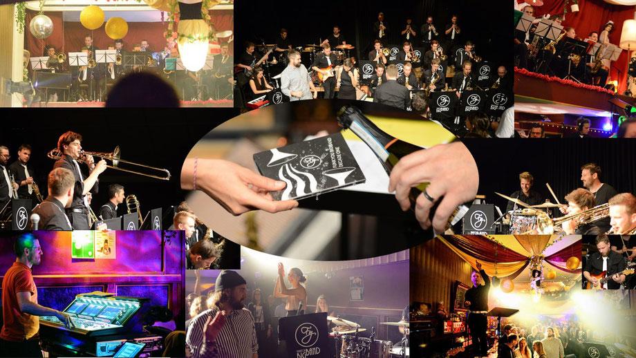 Altmodische Collage aus einigen Impressionen der beiden Plattentaufen. Bilder: Lukas Mathis.