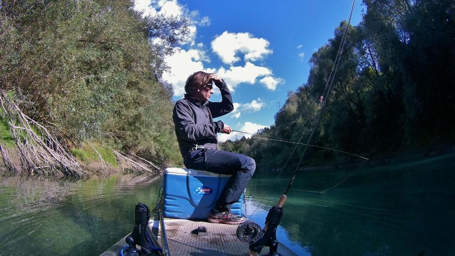 fischen vom SUP, Fliegenfischen vom SUP,  SUP fishing