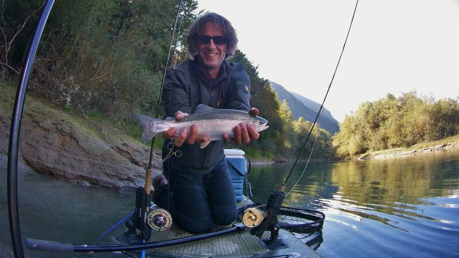 SUP fischen, fliegnfischen, SUP fishing, angeln am SUP,