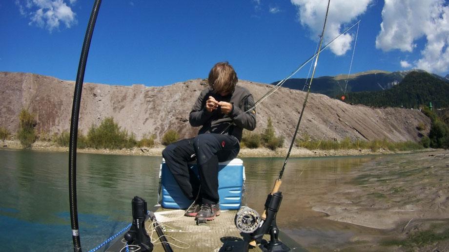 SUP, SUP fishing, Fliegefischen vom SUP, SUP fischen, SUP angeln