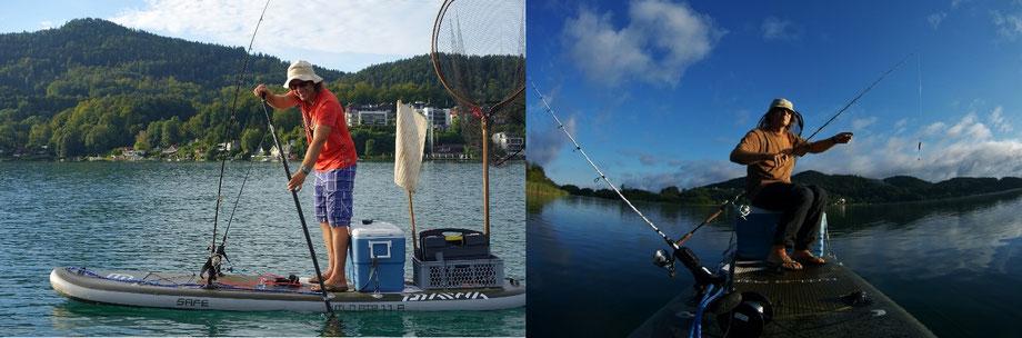 SUPfishing, SUP fishing österreich, SUP fishing Kärnten, Keutschacher See, Wörthersee, fish on sup,