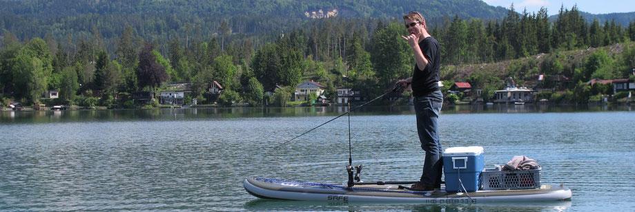 SUP fishing europe austria carinthia Kärnten Guiding kurs verleih