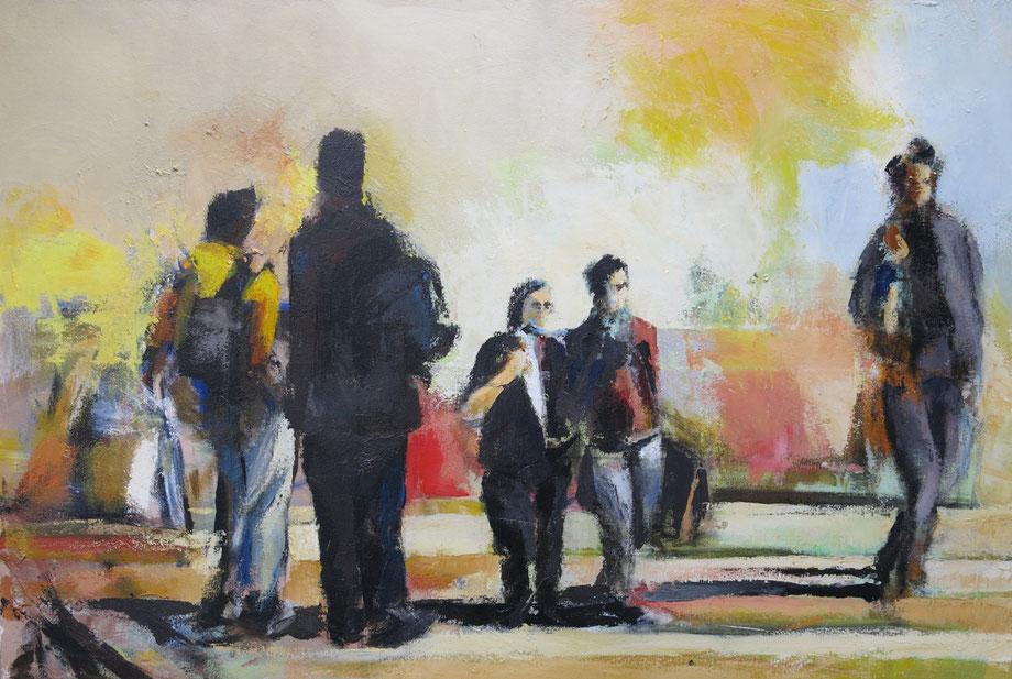Weg van het verleden - acryl op doek 140 x 95 cm