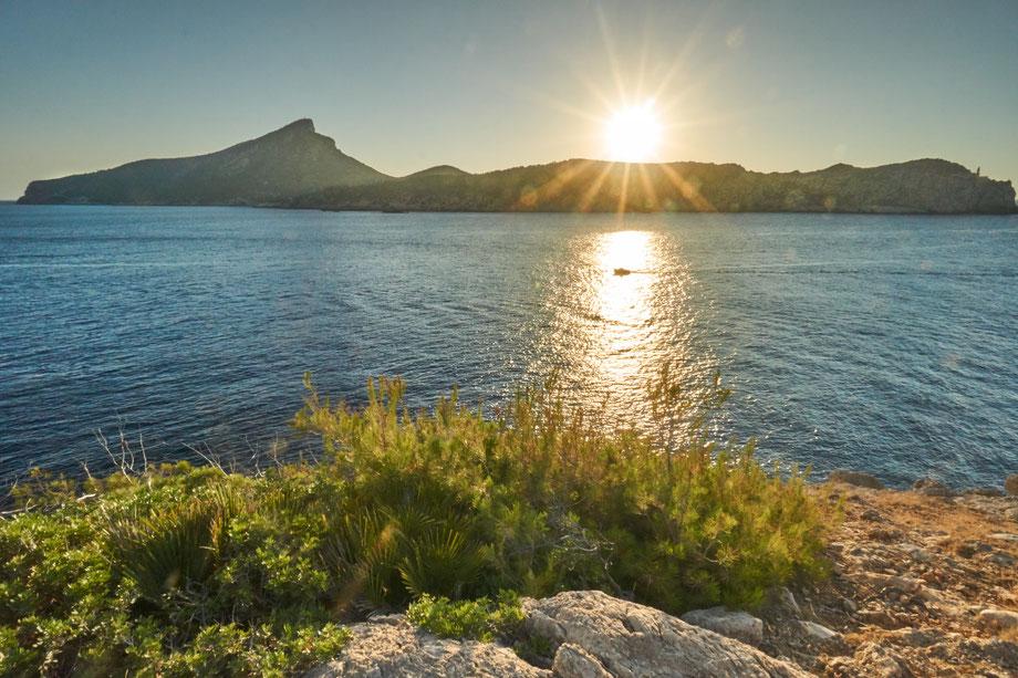 Fotospot Mallorca Punta Blanca beim Sonnuntergang fotografiert
