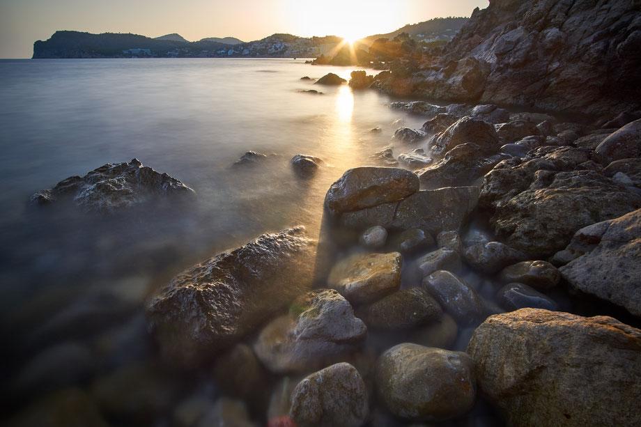 Fotospot Mallorca Paguera am Strand beim Sonnuntergang fotografiert