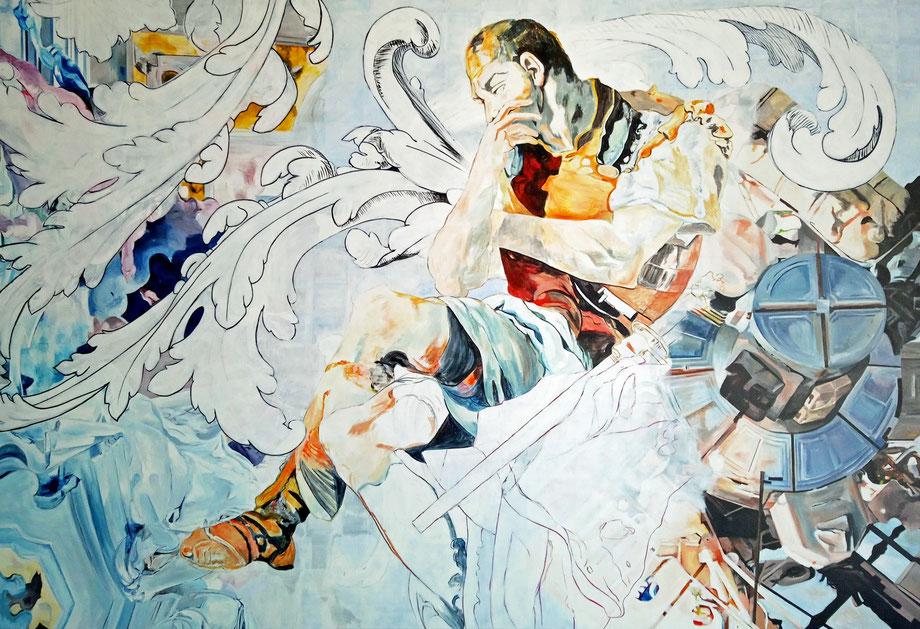 L'ASTRONAUTE     acrylique/toile, 195 x 130