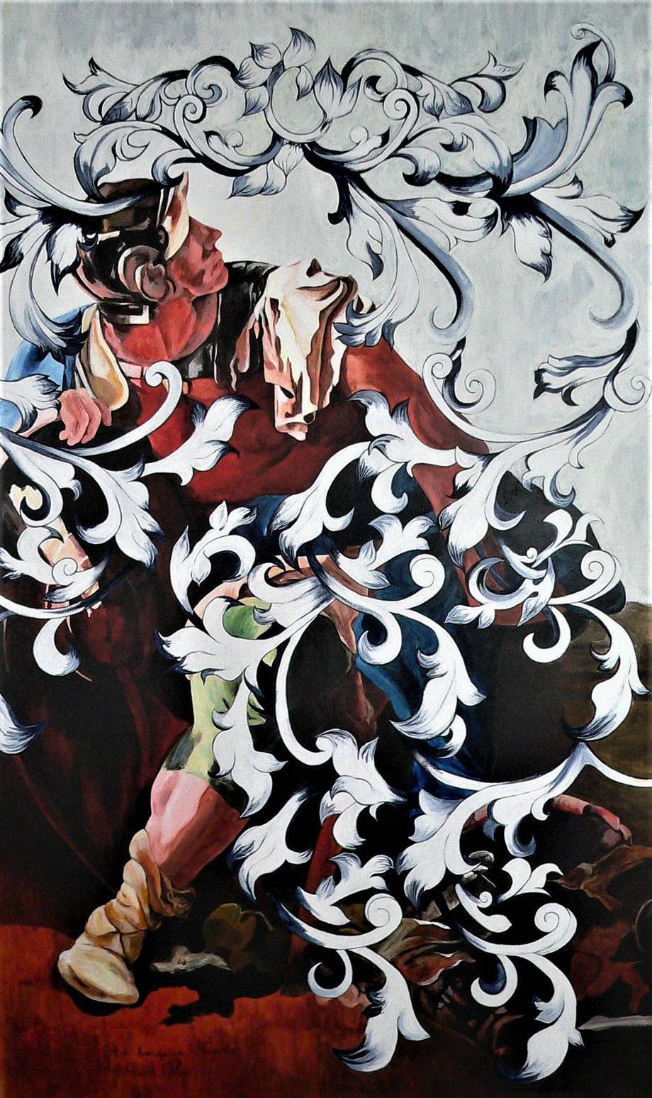 Le Soldat de Zénobie - acrylique/toile - 195 x 114