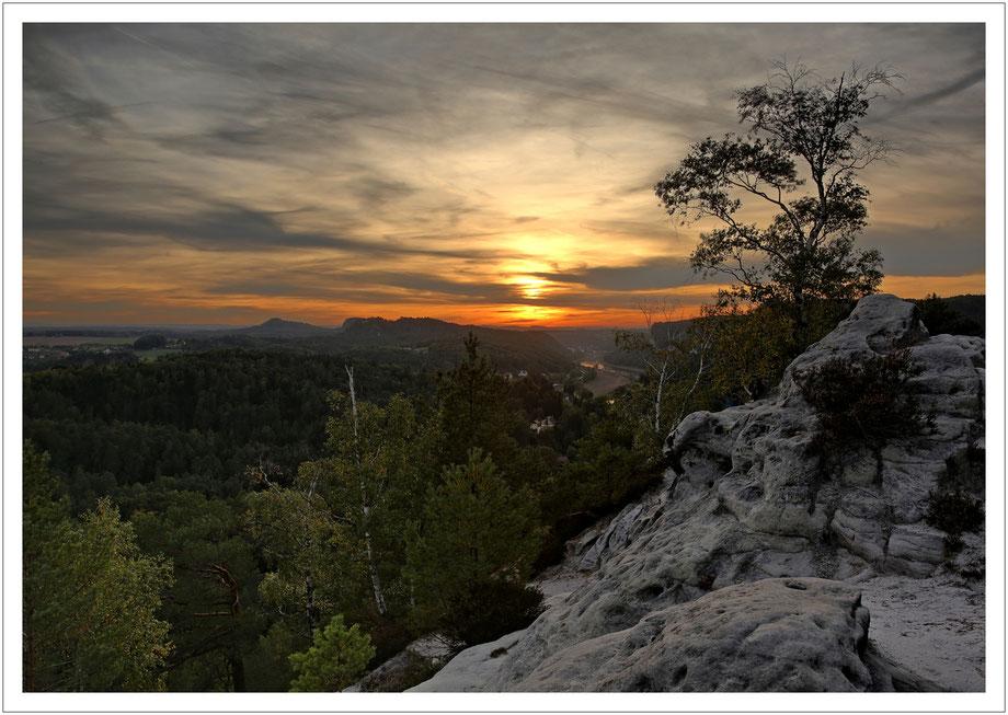 Sonnenuntergang im Westen...