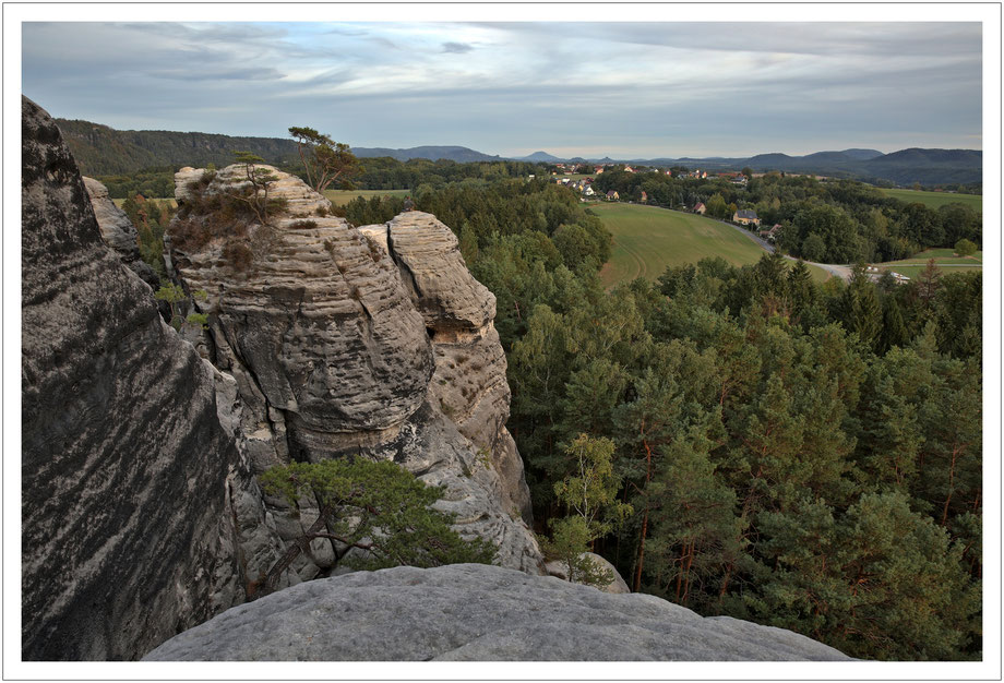 Blick ins Böhmische über Waltersdorf bis zum Rosenberg