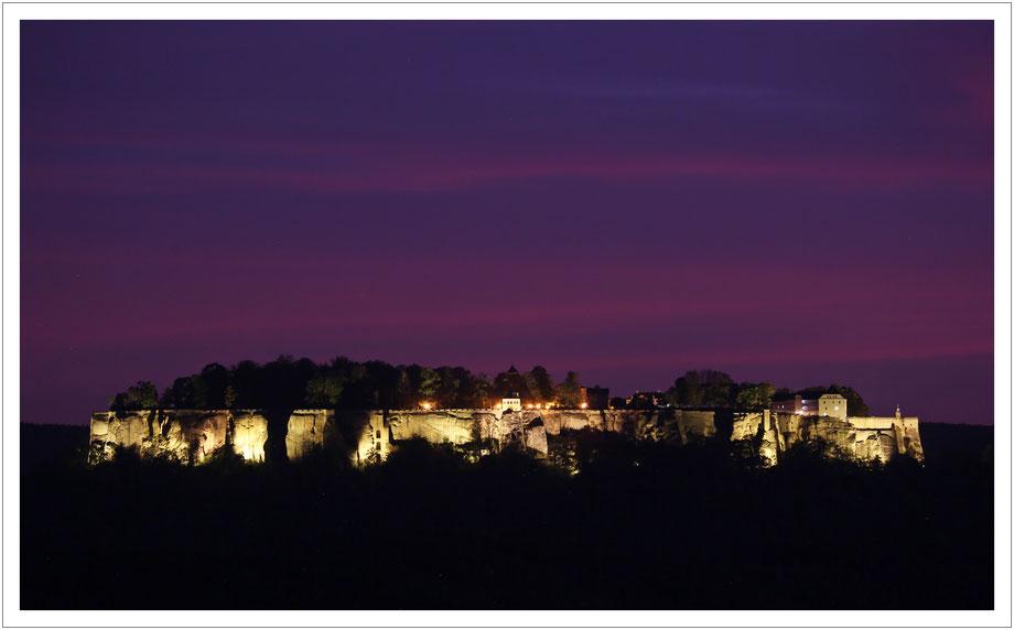 ein letzter Blick zur Festung Königstein - dann war Feierabend...