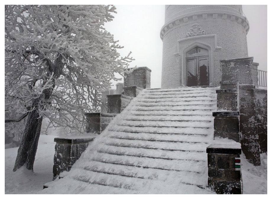 Begehen unmöglich - die Treppe zum Turm