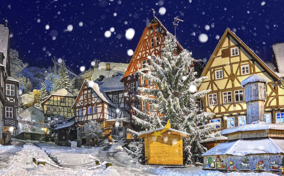 Miltenberg - Schnatterloch im Winter.