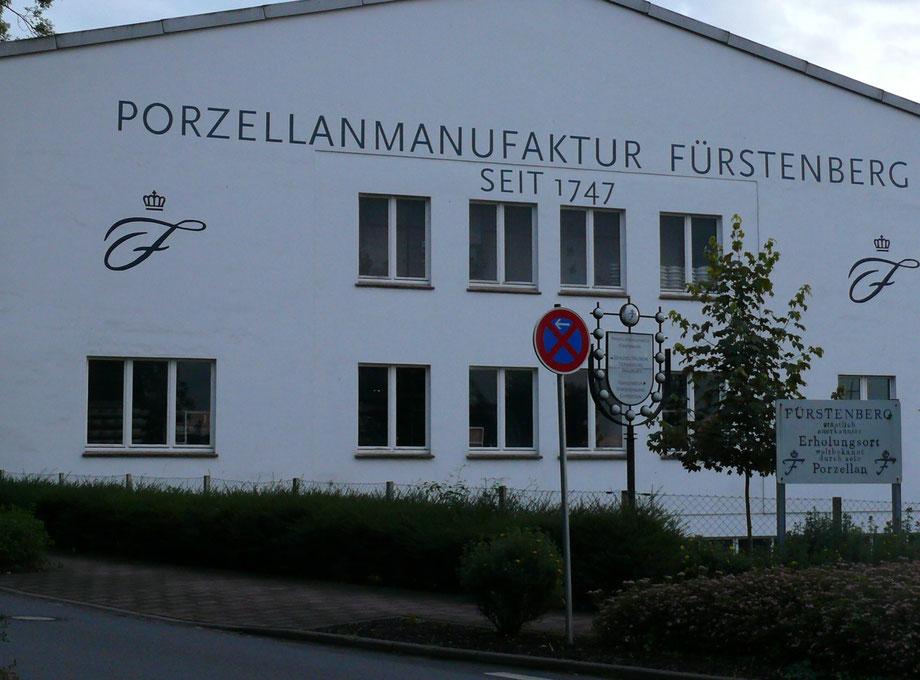 Fürstenberg im Landkreis Holzminden - Porzellanmanufaktur