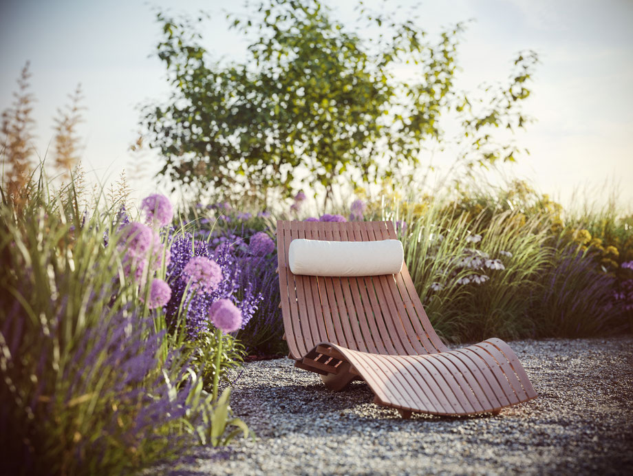 CGI Liegestuhl und Pflanzen