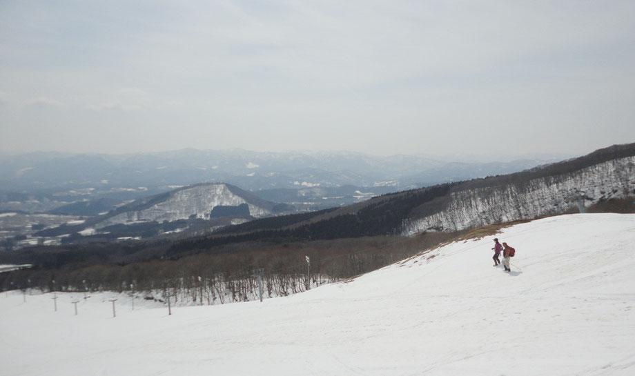 百沢スキー場550Pから「森山」 2016.3.29