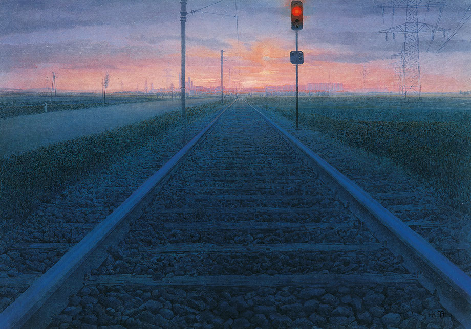 Hanno Karlhuber - Das Signal - Öl/Tempera auf Hartfaser, 70 x 100 cm, 2007