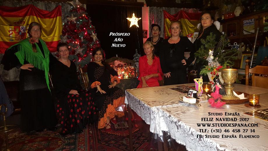Studio España, Casa Pardo, Patricia Pardo, Flamenco, Spaanse les, Flamencoles, Spaanse Conversatieles, Feliz Navidad, Geleen, Sittard-Geleen, Oud-Geleen, Kerstmis, Flamenco les, Flamenco dansles, Feliz Año Nuevo, Feliz 2018