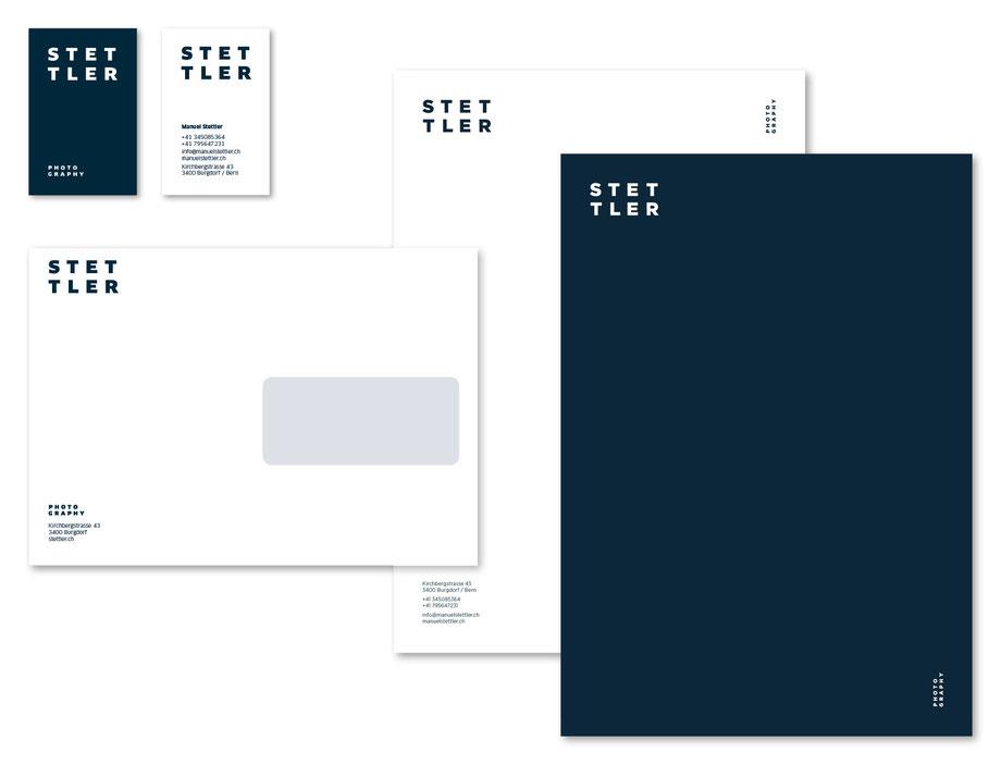 Branding Stettler Photography | Entwicklung Logo Design: Gestaltung Schriftzeichen by Lockedesign, Simon Häberli, Burgdorf