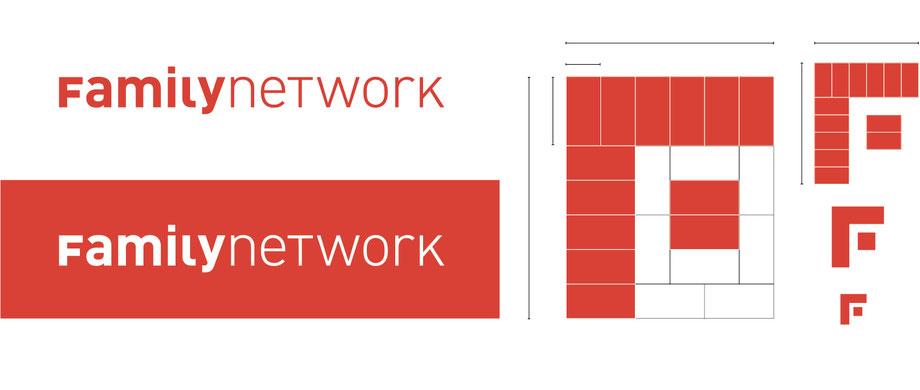Branding Familynetwork | Entwicklung Logo Design: Schrift- und Bildzeichen von Familynetwork