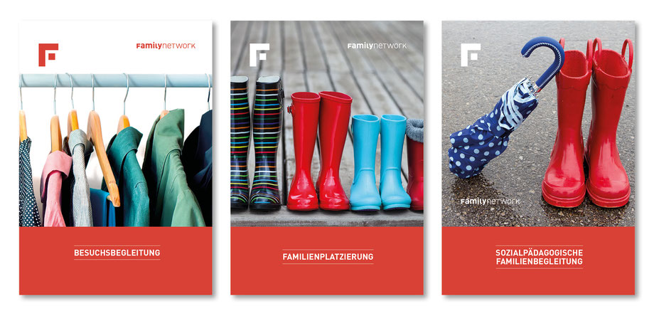 Gestaltung Faltprospekte  by Lockedesign, Burgdorf: Verschiedene Titelseiten