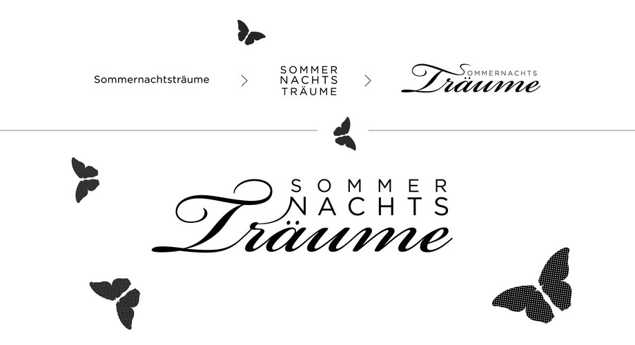 Branding Sommernachtsträume Burgdorf: Entwicklung Corporate Design by Lockedesign, Burgdorf bei Bern: Sommernachtsträume: Logozeichen, Grafik, Typografie