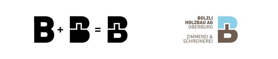 Bolzli Holzbau AG: Entwicklung Logo Bildzeichen, Grafik Design by Lockedesign, Region Emmental Burgdorf Oberburg