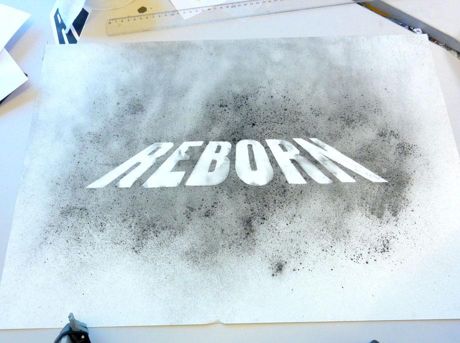 Schriftzug/Typografie by Lockedesign Burgdorf: Skizze/Entwurf Zeichnung mit Kohle