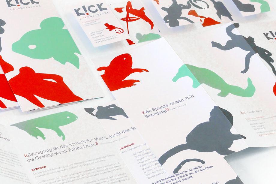 Entwicklung Geschäftsauftritt by Lockedesign, Burgdorf: Logo Design von hairlich-Coiffuresalon. Gestaltung von Post- und Visitenkarte mit Haar-Illustartionen auf der Rückseite
