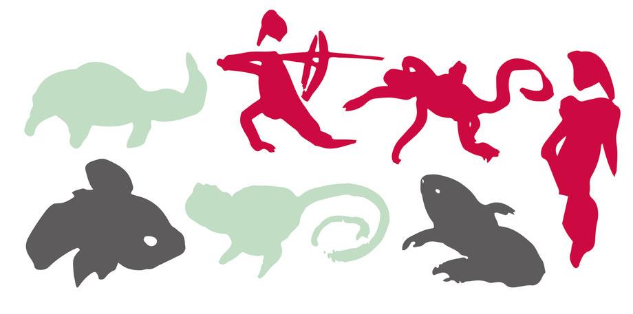 Entwicklung Logo by Lockedesign, Burgdorf: Geschäftsauftritt von hairlich-coiffuresalon. Design Illustration Typografie. Grafische Elemente mit einzigartigen Haar-Zeichnungen
