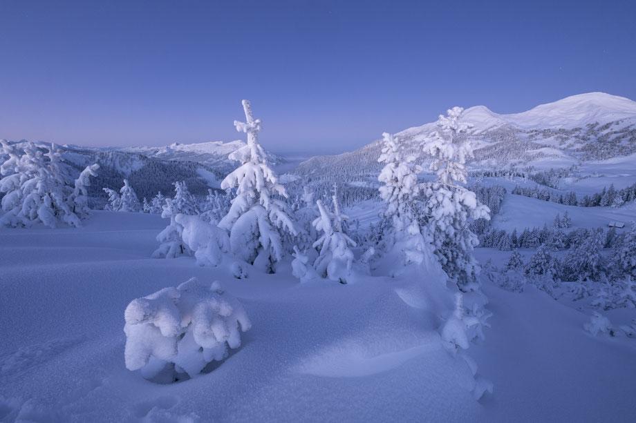 Verschneite Landschaft Glaubenberg