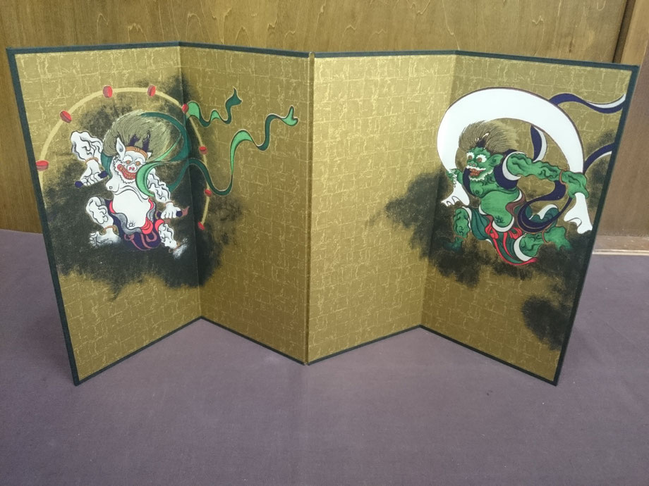 Wind God & Thunder God  folding screens       税込¥7020