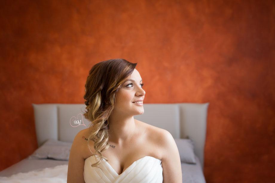 Valentina nel giorno del suo matrimonio
