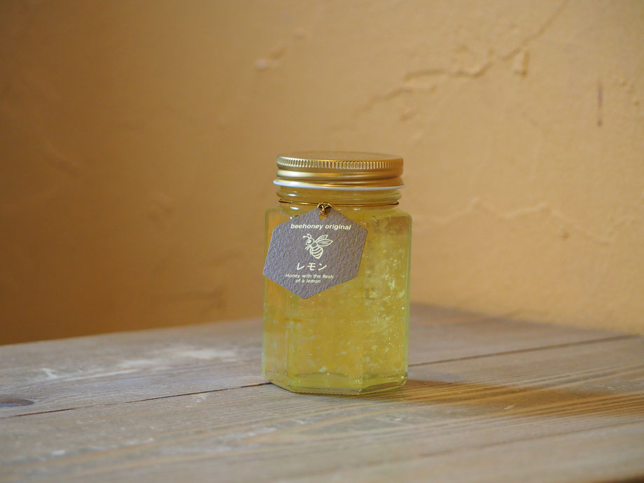 精製蜂蜜,レモン果肉入りはちみつ200g,はちみつオンライン通販ビーハニー,Bee Honey