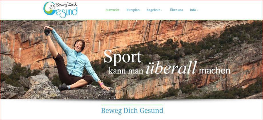 BewegDichGesund - Sporttherapeutische Praxis Eckersdorf Kathrin Löbl - Referenz Homepages Webdesign - webics thomas drechsel isc Oberfranken | Bayreuth | Kulmbach | Bamberg