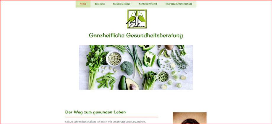 Gesundheitsberatung - Referenz Homepages Webdesign - webics thomas drechsel isc Oberfranken | Bayreuth | Kulmbach | Bamberg