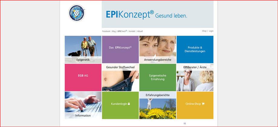 EPIKonzept Gesund leben - Referenz Homepages Webdesign - webics thomas drechsel isc Oberfranken | Bayreuth | Kulmbach | Bamberg