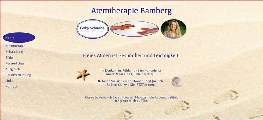 Gaby Schnabel Atemtherapie Bamberg - Referenz Homepages Webdesign - webics thomas drechsel isc Oberfranken | Bayreuth | Kulmbach | Bamberg