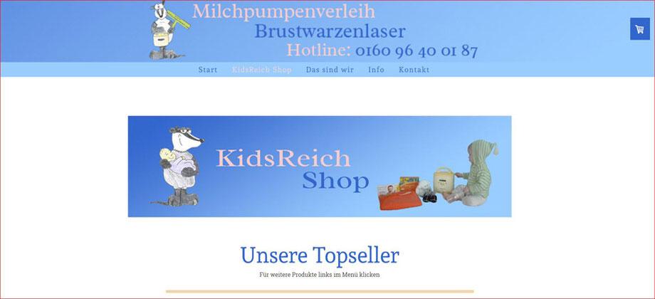 kidsreich.de Online Shop - Referenz Homepages Webdesign - webics thomas drechsel isc Oberfranken | Bayreuth | Kulmbach | Bamberg