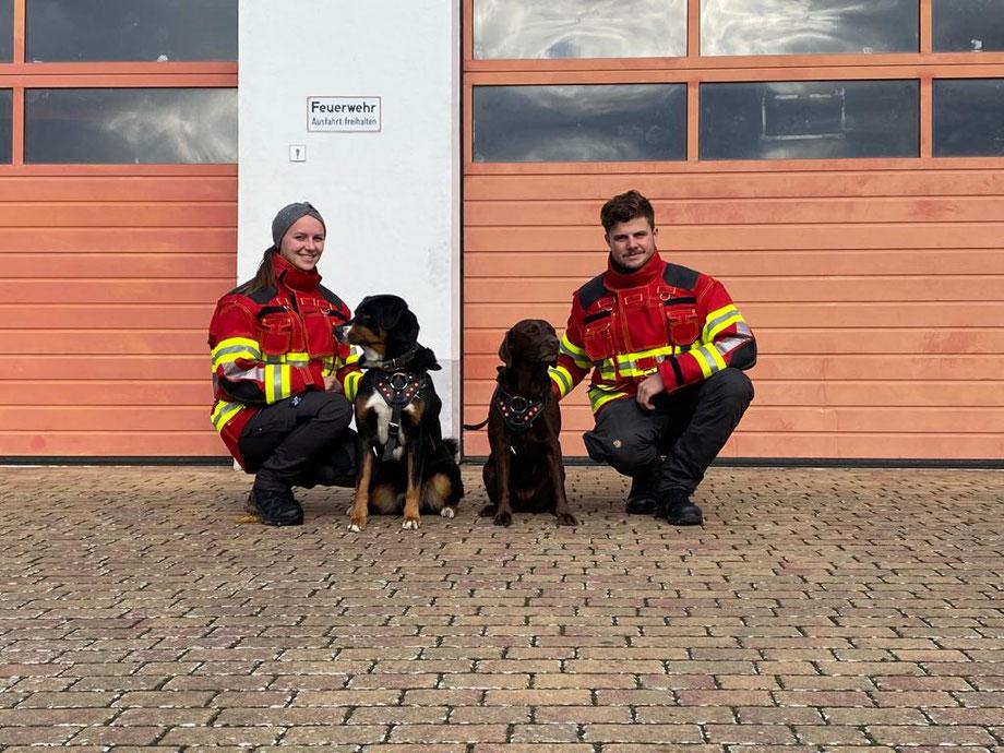 Rettungshundestaffel, Feuerwehr, Steinmark, Annabell Bauer, Andreas Götz, Mantrailer