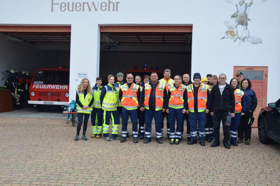 Mantrailer, Sömmersdorf, Steinmark, Feuerwehr, Rettungshundestaffel, Prüfung